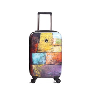Neocover 20-inch Carry-on Old Tyme Squares Hardside Spinner Upright Suitcase