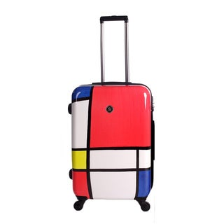 Neocover Primary Color Block 24-inch Medium Hardside Spinner Upright Suitcase
