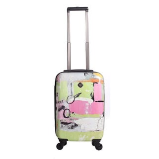 Neocover Fun Pastels 20-inch Carry-on Hardside Spinner Upright Suitcase