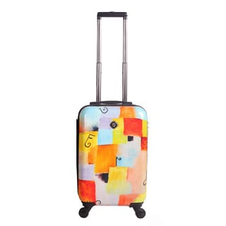 Neocover 20-inch Carry-on Notes Squared Hardside Spinner Upright Suitcase