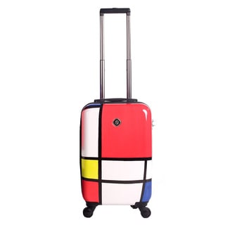 Neocover Primary Color Block 20-inch Carry-on Hardside Spinner Upright Suitcase