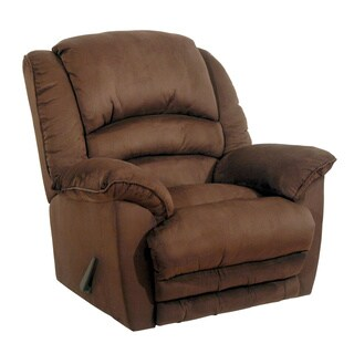 Catnapper Revolver Chocolate Chaise Rocker Recliner with Heat and Massage