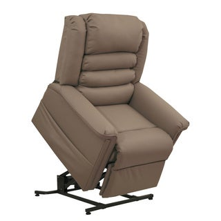 Catnapper Invincible Cocoa Hospital Grade Vinyl Power Lift and Lay Out Chaise Recliner