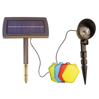 Solar Spot Light and 4 Interchangeable Color Filters Set
