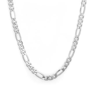 Sterling Essentials 30-inch Sterling Silver Figaro Chain (4.5mm)