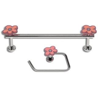 Daisy Polished Chrome 2-piece Bathroom Accessory Set