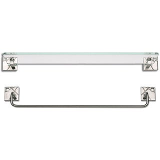 Modernist Brushed Nickel 2-piece Bathroom Accessory Set