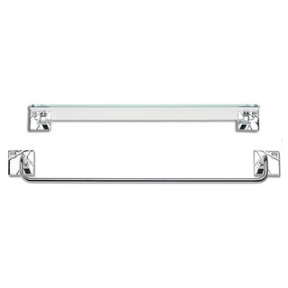 Modernist Polished Chrome 2-piece Bathroom Accessory Set