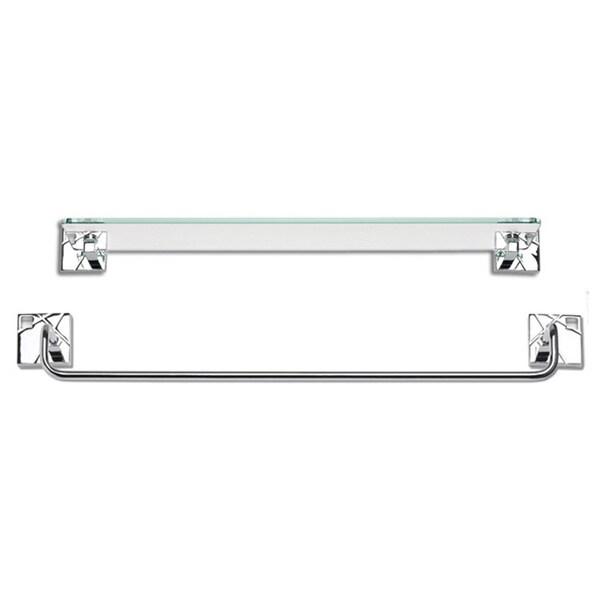 Modernist Polished Chrome 2-piece Bathroom Accessory Set