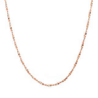 Sterling Essentials 14k Rose Gold over Silver Twisted Serpentine Chain (1 mm)