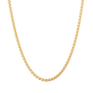 Sterling Essentials 14k Gold over Silver Italian Wheat Chain (1.5mm)