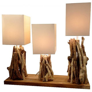 Primitive Triple Lamp Fixture