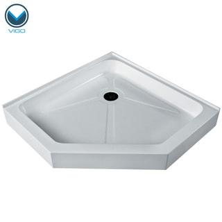 VIGO White 38-Inch x 38-Inch Neo-Angle Shower Tray