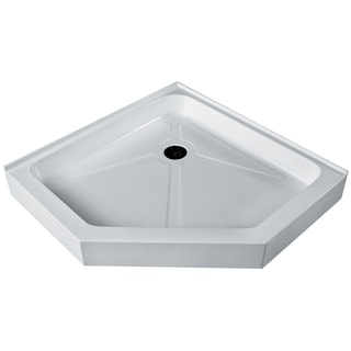 VIGO White 38-Inch x 38-Inch Neo-Angle Shower Tray