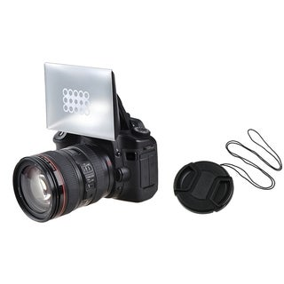 INSTEN Camera Flash Diffuser/ 58 mm Black Camera Lens Cap Canon/ Nikon