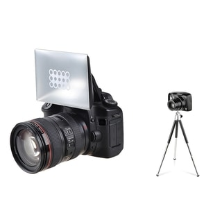 BasAcc Camera Flash Diffuser/ Mini Retractable Tripod for Canon