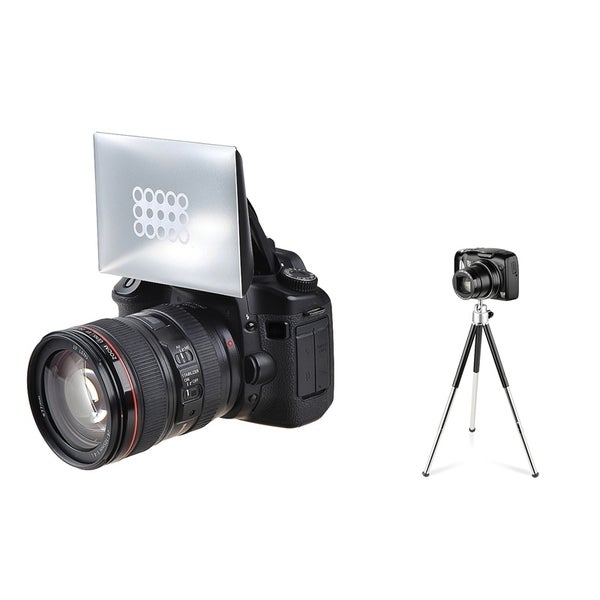 INSTEN Camera Flash Diffuser/ Mini Retractable Tripod for Canon