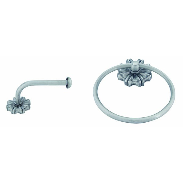 Seville Pewter 2-piece Bathroom Accessory Set