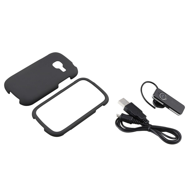 BasAcc Black Case/ Bluetooth Headset for Samsung Galaxy Centura S738C