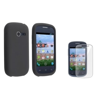 INSTEN Black Phone Case Cover/ Screen Protector for Samsung Galaxy Centura S738C