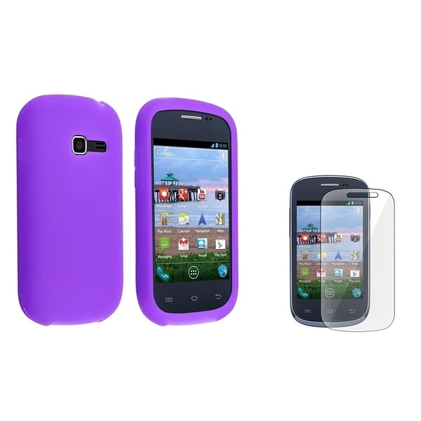 INSTEN Purple Phone Case Cover/ Screen Protector for Samsung Galaxy Centura S738C