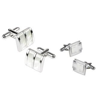 Zodaca Silvertone Cufflink Set (Pack of 2)