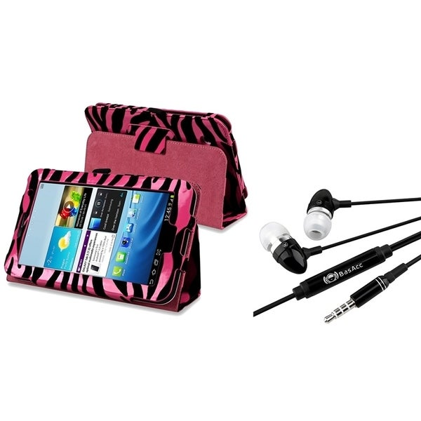 INSTEN Tablet Case Cover/ Headset with Mic for Samsung Galaxy Tab 2 7.0-inch