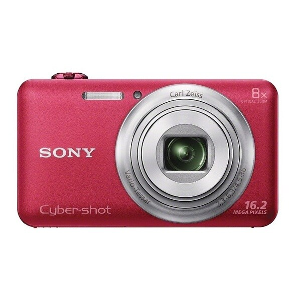 Sony Cyber Shot DSC-WX80 WiFi 16.2MP Red Digital Camera