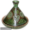 Ceramic Engraved Serving Tagine (Morocco)