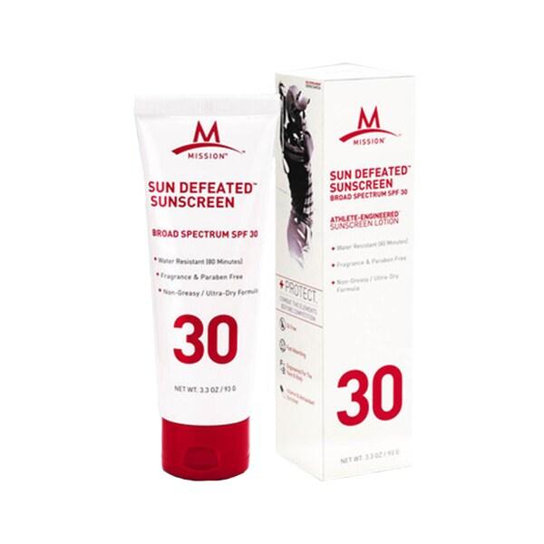 Mission Athletecare Sun Defeated SPF 30 Sunscreen Lotion