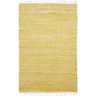 Yellow Reversible Chenille Flat Weave Area Rug (4' x 6')