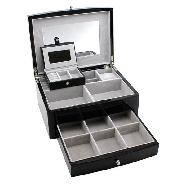 Heiden Abigail Espresso Jewelry Box