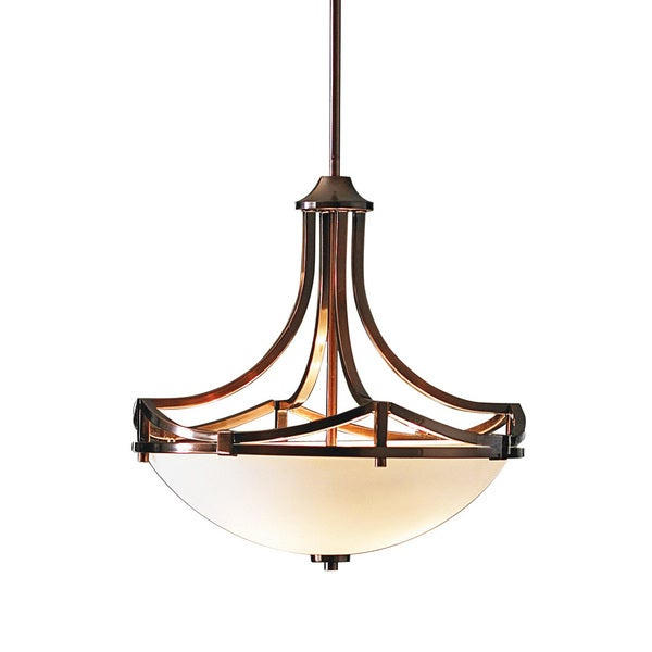 Transitional Oil Rubbed Bronze 3 Light Pendant Chandelier