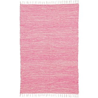 Pink Reversible Chenille Flat Weave Rug (5' x 8')