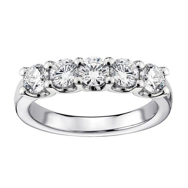 1ct TDW Diamond 5-stone Wedding Band (G-H, SI1-SI2)