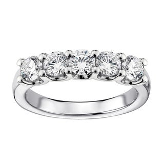 1ct TDW Diamond 5-stone Wedding Band (G-H, SI1-SI2)