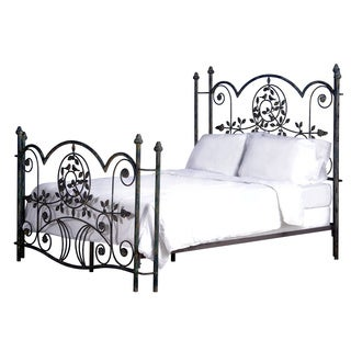 Hudson Queen Blue Bird Vintage Metal Bed