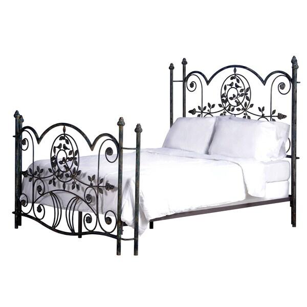 Hudson Queen Blue Bird Vintage Metal Bed
