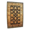 Hand-knotted Traditional Khorasan Gold Wool Rug (6'5 x 9'11)