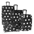 American Flyer Grande Black and White Dots 4-piece Luggage Set