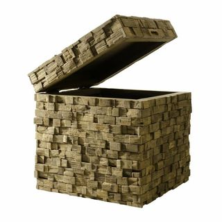 Teak Mosaic all-in-one Storage Cube Table and Seating