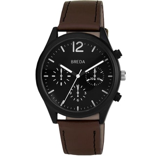 Breda Men's 'James' Black Dial Watch