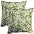 Amazon Grass 17-inch Throw Pillows (Set of 2)