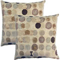 Bebop Mocha 17-inch Throw Pillows (Set of 2)