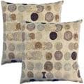 Bebop Mocha 17-inch Throw Pillows (Set of 2)