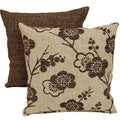 Bloom Delight Bittersweet 17-inch Throw Pillows (Set of 2)