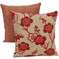 Bloom Delight Cherry 17-inch Throw Pillows (Set of 2)