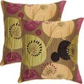 Botany Lime 17-inch Throw Pillows (Set of 2)