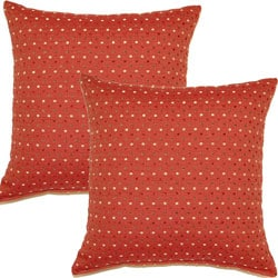 Fun Dots Spice 17-inch Throw Pillows (Set of 2)