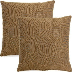 Graceful Bark 17-inch Throw Pillows (Set of 2)